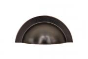 HN-M-3978-64-AC Ручка-ракушка 64мм, отделка шлифованная медь