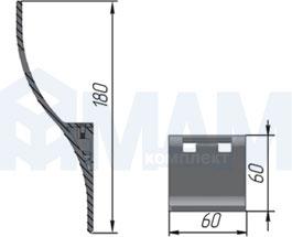 Z-5408.G2 SPIRO Крючок двухрожковый хром