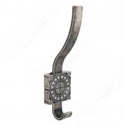 Z-5413.G35 SPARTA Крючок двухрожковый серебро состаренное
