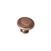Ручка-кнопка, отделка медь античная кантри WPO.2025Y.30.M00C1