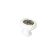 Ручка-кнопка, отделка железо + керамика SP36-38ZN29