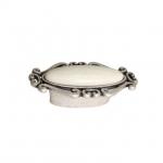 Ручка-кнопка, отделка старое серебро с блеском + керамика P40X.01.G4.ME8G