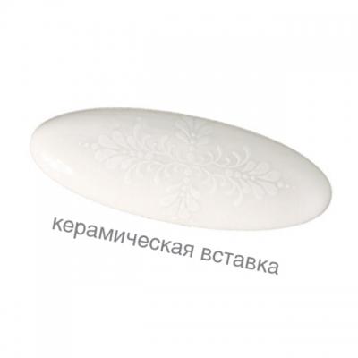P40.X01.G4.ME8G Ручка-кнопка, отделка старое серебро с блеском + керамика