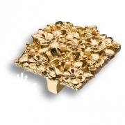 """01.32.MO19 Ручка кнопка""""Bouquet"""", глянцевое золото 24K, 32 мм"""