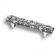 """01.96 MO07 Ручка скоба """"Bouquet"""", глянцевое серебро 96 мм"""