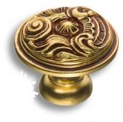 012035H Ручка кнопка, латунь, французское золото