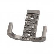 KR 0160 BAZ Мебельныйкрючок двухрожковый, черненый старинный цинк