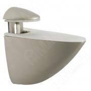 SU03ANSAT ПЕЛИКАН Менсолодержатель для деревянных и стеклянных полок 4 - 40 мм, никель матовый