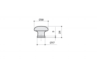 P04.01.84.02MM Ручка-кнопка, отделка бронза старая + керамика