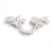 043510.WHI Ручка скоба - латунь, рококо, цвет покрытия матовый белый 46 мм