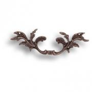 043521o Ручка скоба - латунь, рококо, цвет покрытия античная бронза 96 мм
