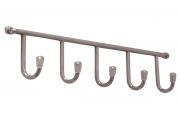 PAG05C Вешалка L=340мм с 5-ю крючками, хром глянец