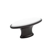 KF06-11 BL Ручка-кнопкас фарфором, матовый черный