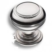 0712-005 Ручка кнопка латунь глянцевый хром