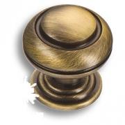 0712-013 Ручка кнопка латунь старая бронза