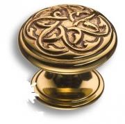 07120-035 Ручка кнопка латунь, французское золото
