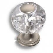 0737-006-1 Ручка кнопка, латунь с кристаллом, никель