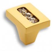 0771-003-1 Ручка кнопка, латунь с кристаллами Swarovski, глянцевое золото