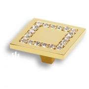 0771-003-3 Ручка кнопка, латунь с кристаллами Swarovski, глянцевое золото
