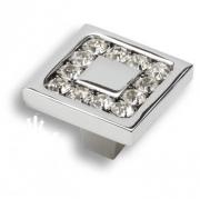 0771-005-2 Ручка кнопка, латунь с кристаллами Swarovski, глянцевый хром
