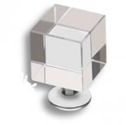 0786-005 25мм Ручка кнопка, пластик глянцевый хром