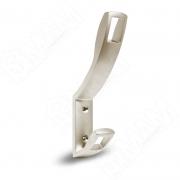 RW0806 QUADRA Крючок двухрожковый никель матовый