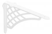 """MD09.SHELF.9010 Менсолодержатель """"Шельф"""", отделка белый бархат (матовый), комплект 2штуки"""