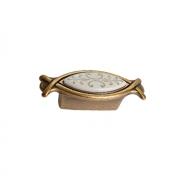 Ручка-кнопка 32мм, отделка бронза античная красная + вставка 10.825.B25-113