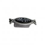 Ручка-кнопка 32мм, отделка серебро античное + вставка 10.825.B17-115