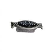 Ручка-кнопка 32мм, отделка серебро античное + вставка 10.825.B17N-115