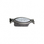 Ручка-кнопка 32мм, отделка серебро античное + вставка 10.825.B17-118