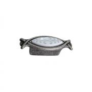 Ручка-кнопка 32мм, отделка серебро античное + вставка 10.825.B17N-118