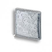 1003.0050.021.173 Ручка кнопка, серебряная кожа с растительным орнаментом