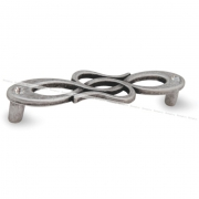Ручка-скоба 96мм серебро состаренное с кристаллами Сваровски 1021K.96.09