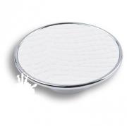 1026BL Ручка кнопка, белая глянцевая кожа