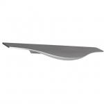 Ручка врезная 195мм, отделка сталь шлифованная 416420195-66