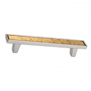 Ручка-скоба 96мм, отделка серебро люкс 15.138.96.VS05.15