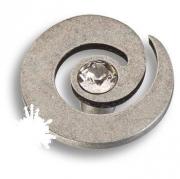 1039.0040.016 Ручка кнопка с кристаллом Swarovski, старое серебро
