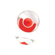 Ручка-кнопка, отделка транспарент + красный 217.896-2400/6605