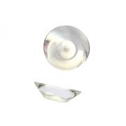 Ручка-кнопка, отделка транспарент + белый 217.896-2400/1300