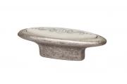 10.808.B17-107 Ручка-кнопка 32мм, отделка серебро античное + вставка