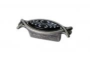 10.825.B17-115 Ручка-кнопка 32мм, отделка серебро античное + вставка