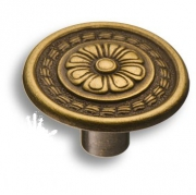 1109.0030.001 Ручка кнопка, античная бронза