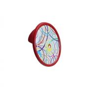 Ручка-кнопка 32мм, отделка красный + вставка 10.823.B0472-110