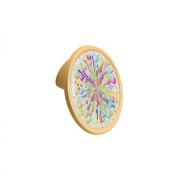 Ручка-кнопка 32мм, отделка желтый матовый + вставка 10.823.B0465-111