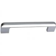 Ручка-скоба 128мм, отделка хром глянец + белый CH0103-128.PC/WH