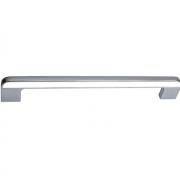 Ручка-скоба 192мм, отделка хром глянец + белый CH0103-192.PC/WH