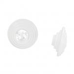 24273Z07200.F5 Ручка-кнопка, отделка белая матовая + горный хрусталь