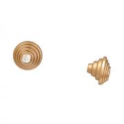 Ручка-кнопка, отделка золото матовое + горный хрусталь  24273Z03205.46