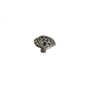 Ручка-кнопка, отделка старое серебро с блеском WPO.712Y.000.M00E8